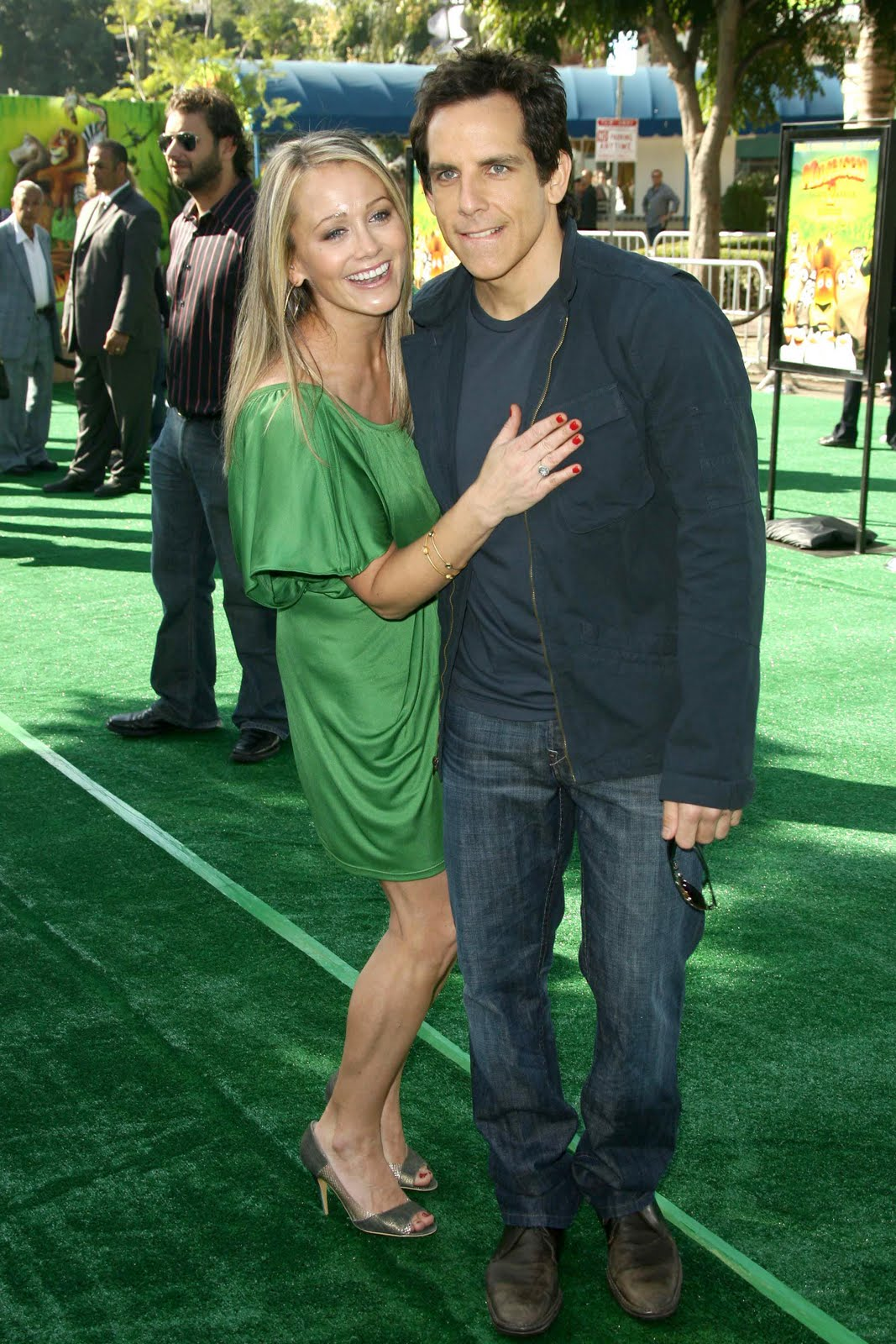 Christine Taylor and Ben Siller