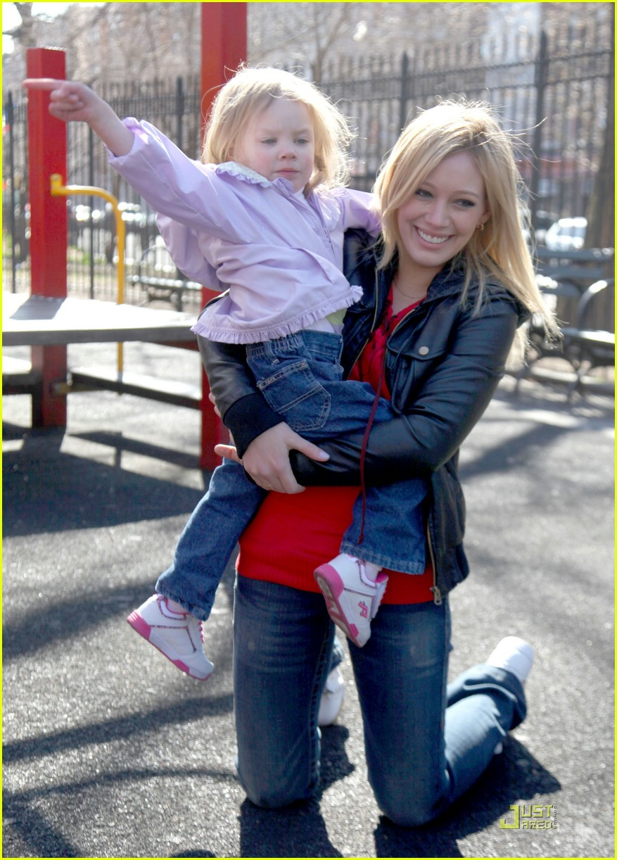 Hilary Duff with Her Daughter