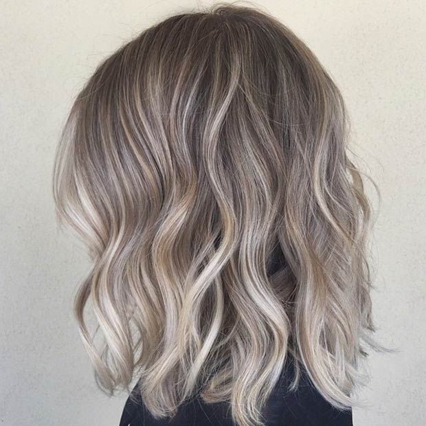 ASH BLONDE SOMBRÉ + BEACH WAVES
