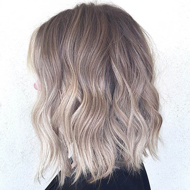 BROWNISH BLONDE LOB