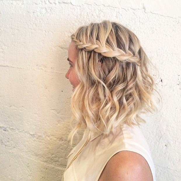 CURLY A-LINE LOB + BRAID