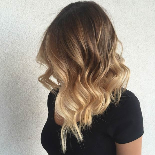 LONG BOB + BLONDE BALAYAGE