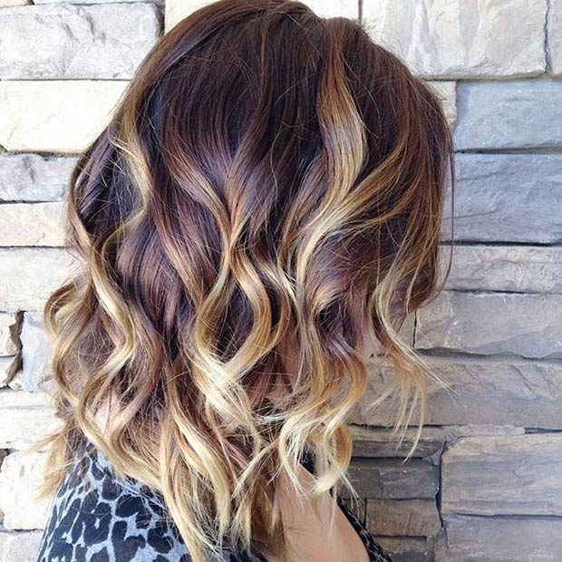 REDDISH BROWN ROOTS + BLONDE HIGHLIGHTS