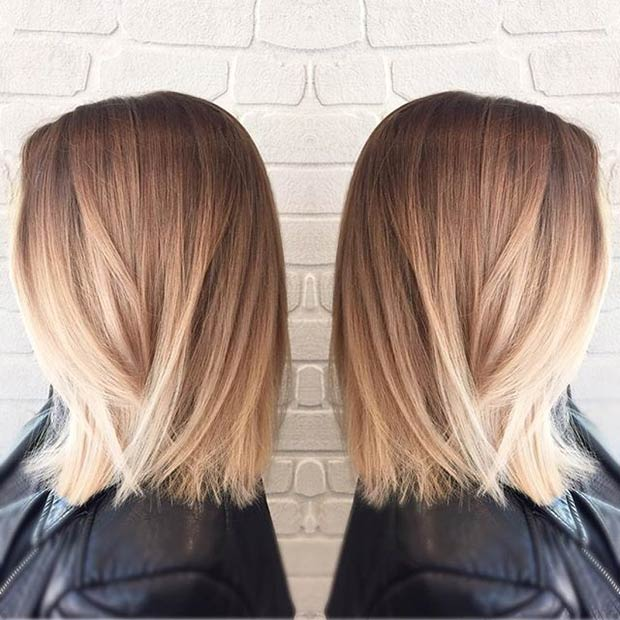 STRAIGHT BOB + BLONDE BALAYAGE