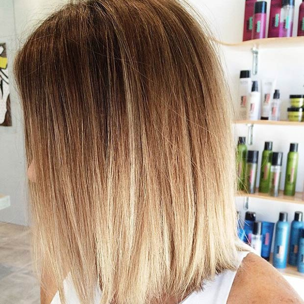 STRAIGHT LOB + OMBRÉ EFFECT