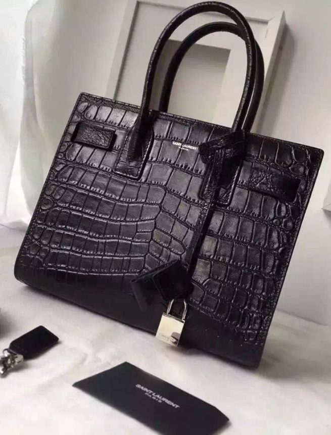 Sac De Jour Alligator Leather Bag by YSL