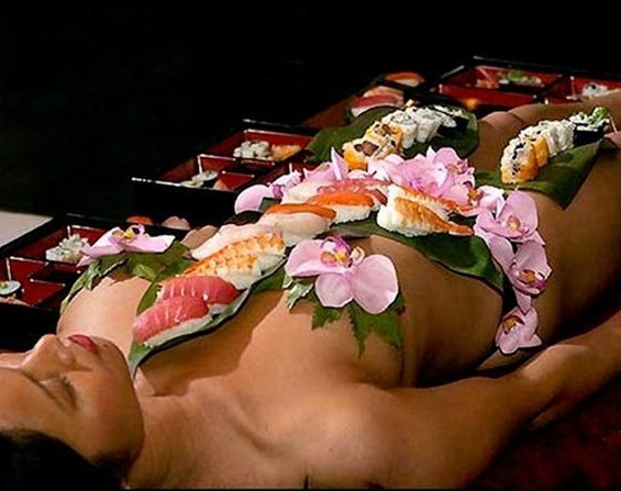 Nyotaimori: Serving Sushi on Naked Bodies