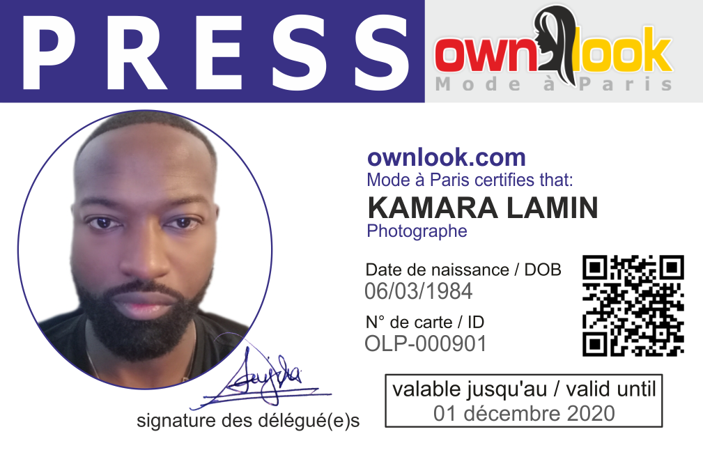 MR KAMARA LAMIN - PRESS ID